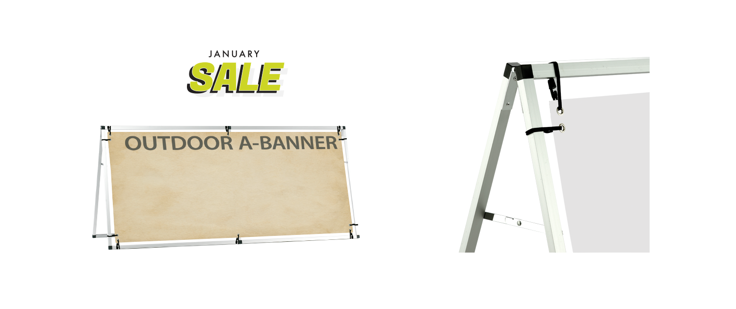Outdoor Banner A Banner January Sale
