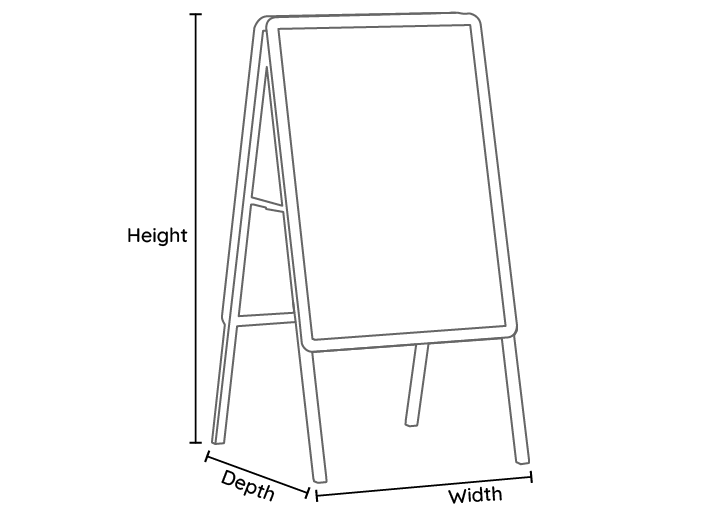 A Frame Line Drawing