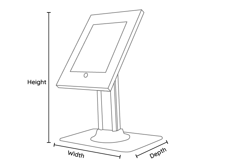 Ipad Secure Counter Top Line Drawing