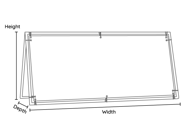 Outdoor A BAnner Line Drawing