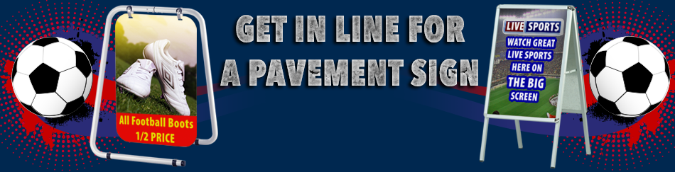Football Pavement Sign Header